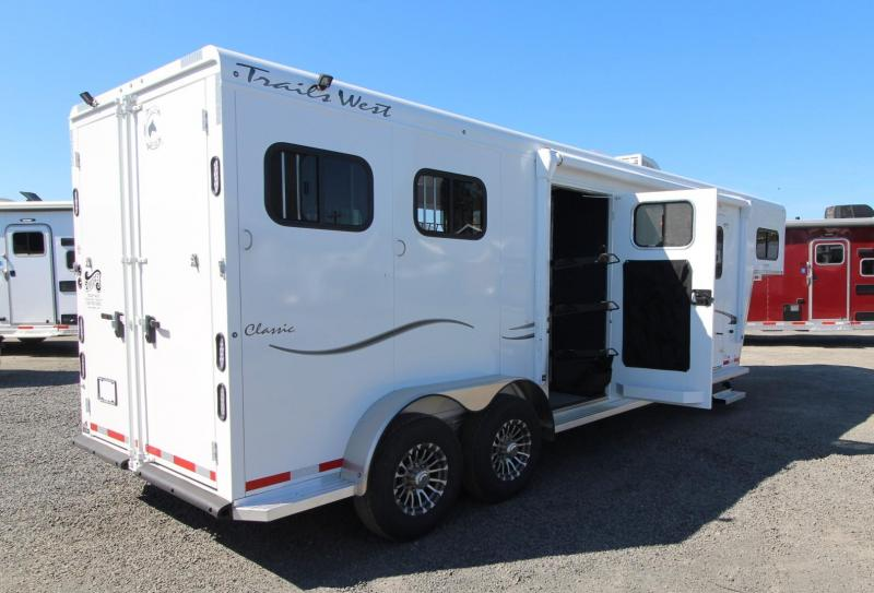 2020 Trails West Classic 10x10 LQ 2 Horse Trailer - Side Tack - Power Awning