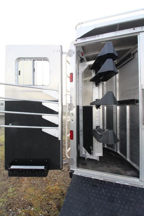 2016 Featherlite 15' SW 4 Horse Trailer-Hay Pod-Rear Ramp-Tons of Storage-Hardwood Interior-Slide Out-Sofa-Gen Prepped