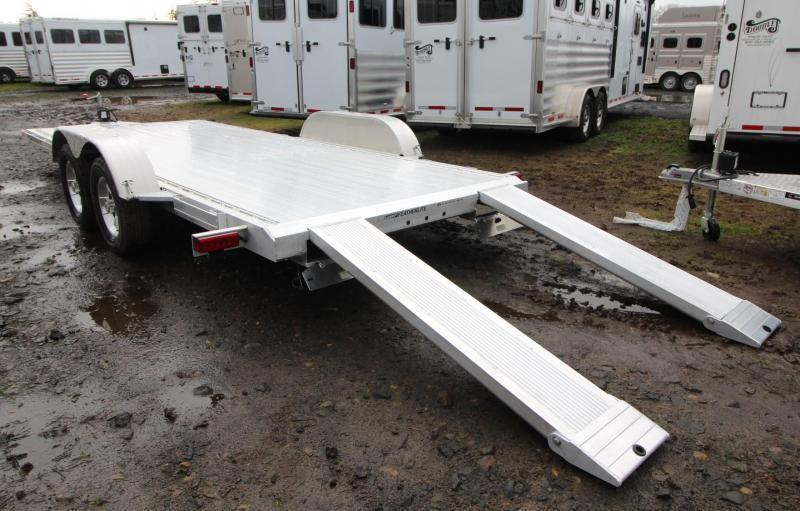 2021 Featherlite 3182 - 18ft Aluminum Flat Bed Car Trailer