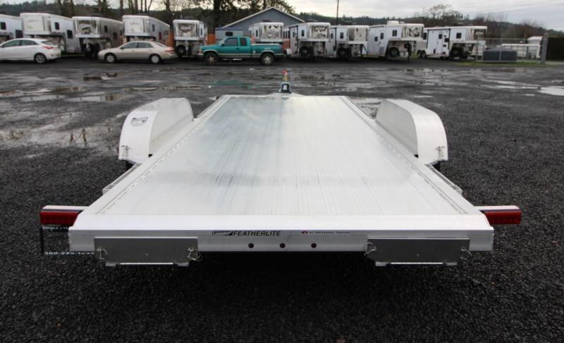 2021 Featherlite 3182 - 18ft Aluminum Flat Bed Car Trailer