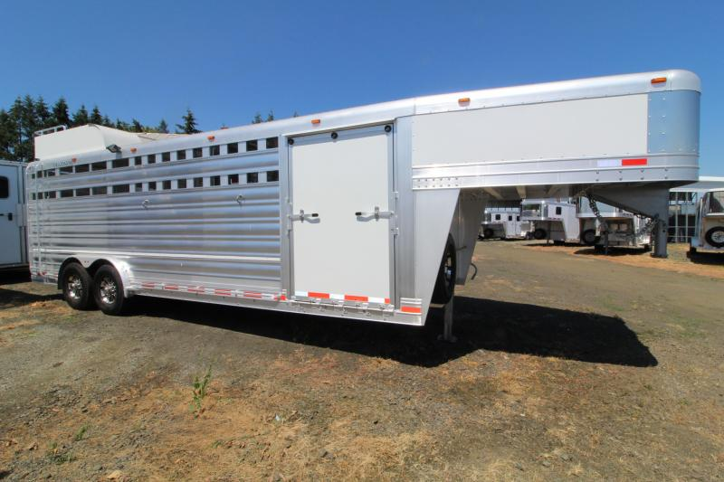 2020 Platinum Coach 24' Stock Club Calf Trailer Livestock Trailer