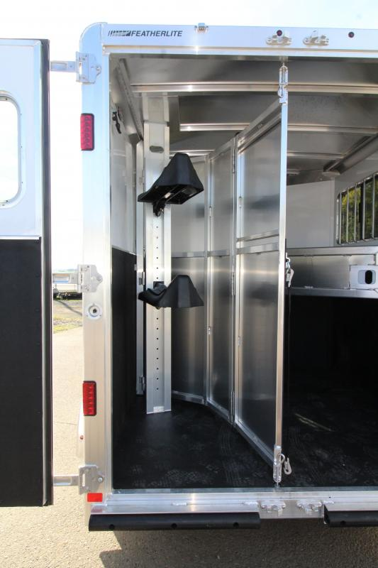 2020 Featherlite 7441 - 2 Horse All Aluminum Trailer - Drop Down Windows - Wave Panel Exterior Siding - Fully Enclosed Tack Room - Folding Rear Tack - PRICE REDUCED $300