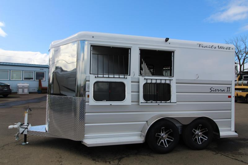 2020 Trails West Sierra 2 Horse Trailer - Lined and Insulated Horse Compartment - Swing Out Saddle Rack - PRICE REDUCED