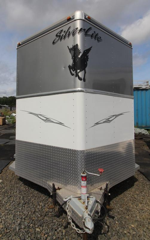 2008 Silver Lite Warmblood 2 Horse Trailer - Insulated Horse area and Tack room