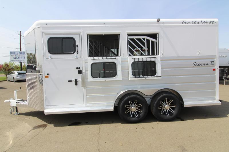 "NEW 2019 Trails West Sierra 3 Horse Trailer - 7'6"" Tall - Escape Door - Convenience Package - Drop Down Windows PRICE REDUCED $400"