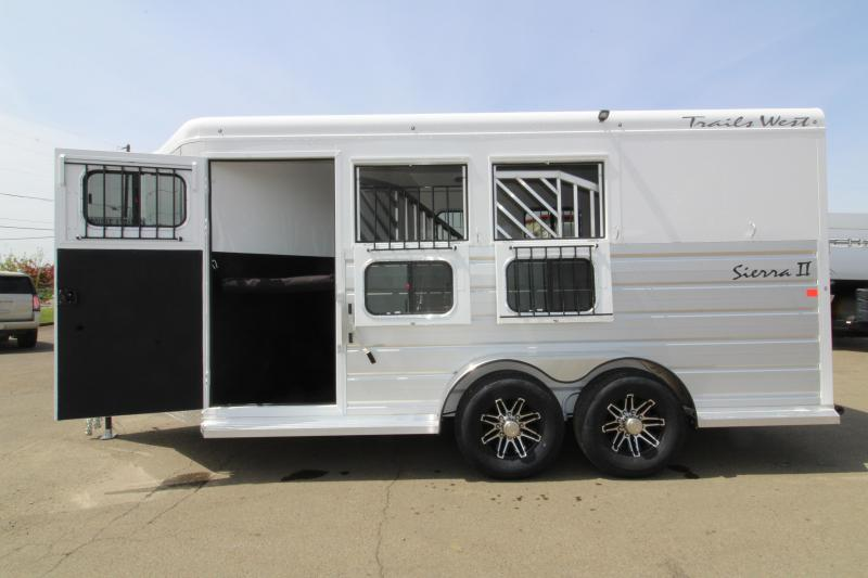 "NEW 2019 Trails West Sierra 3 Horse Trailer - 7'6"" Tall - Escape Door - Convenience Package - Drop Down Windows"