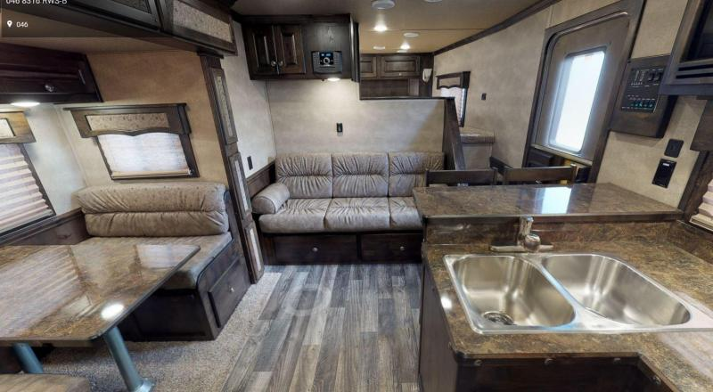 2021 MERHOW NEXT GEN 8316 3 HORSE TRAILER- 16FT SW LIVING QUARTERS - SLIDE OUT - DINETTE & COUCH
