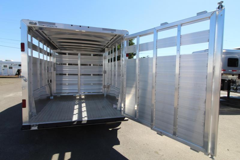 2021 Featherlite 8127 16' Stock Trailer  - Center Gate with Slider