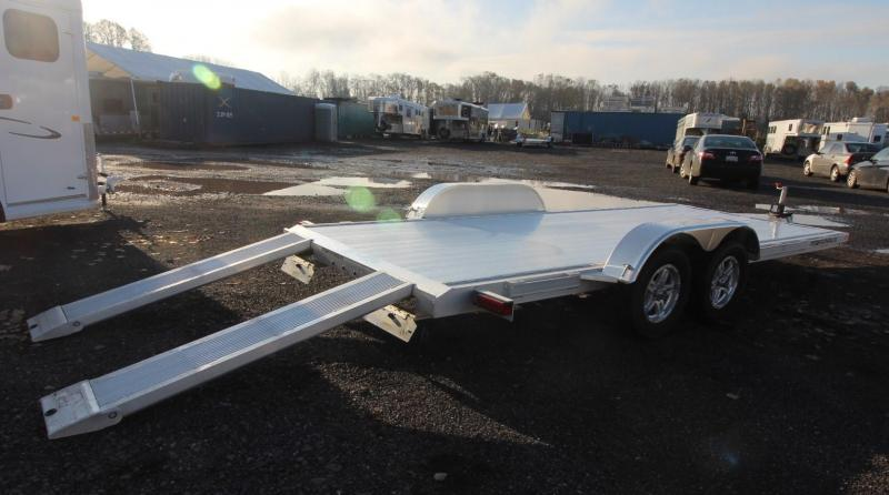 2021 Featherlite 3182 - 18FT FLAT BED CAR TRAILER ALL ALUMINUM WITH RAMPS