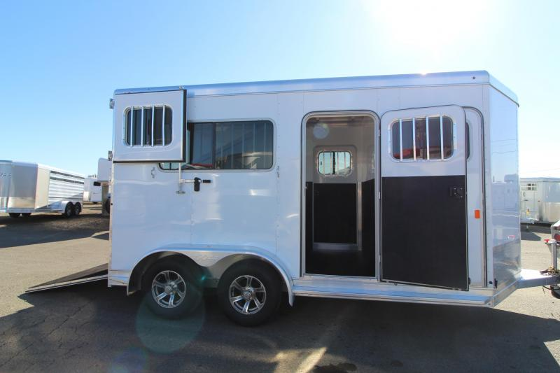 2021 Exiss 724 Warmblood Size Straight Load Horse Trailer Rear Ramp