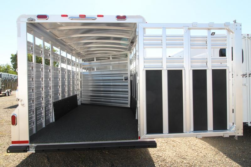2021 Platinum CSport Stock Combo Horse Trailer-23' Long-Angle Wall-Center Divider-Easy Care Floor