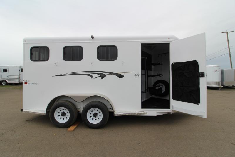 2020 Trails West Adventure MX 3 Horse Trailer - UPGRADED Rear Door Windows - Swing Out Saddle Rack - NEW Floor Plan with Larger Stalls!