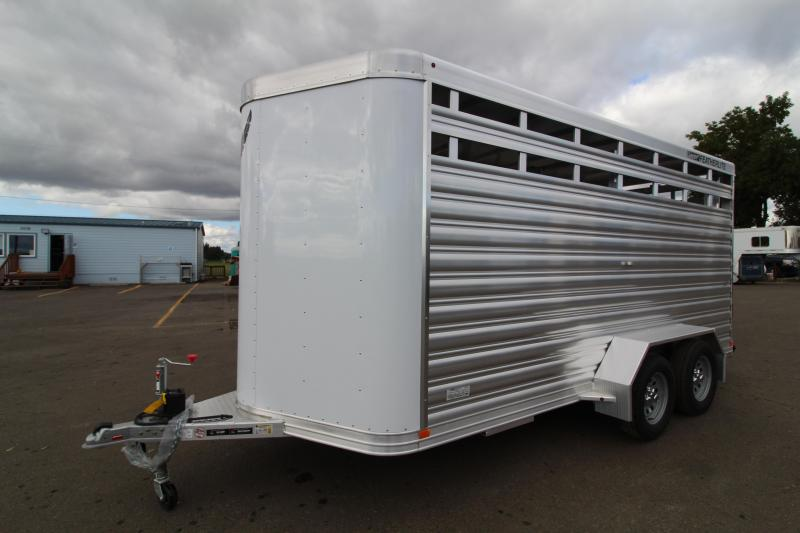 2021 Featherlite 8107 Livestock Trailer-16' Long-Slider in Rear and Center Gates-Escape Door