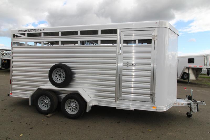 2021 Featherlite 8107 Livestock Trailer-16' Long-Slider in Rear and Center Gates-Escape Door