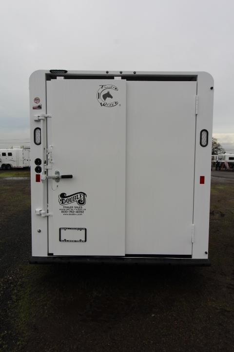 2021 Trails West Adventure 17' Stock-Slider in Rear-Escape Door Livestock Trailer