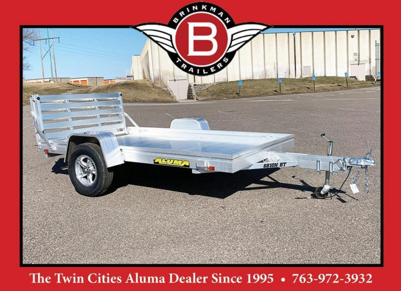 Aluma 6810H BT (68x10) Heavy Duty Utility Trailer - Bi-Fold Tailgate!