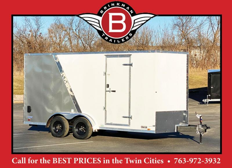 Continental 7.5x16 Enclosed Trailer - 7' Interior- Rear Ramp - UTV!
