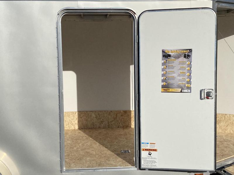 Lightning 7x23 (18'+5'V) Enclosed Aluminum Snowmobile Trailer
