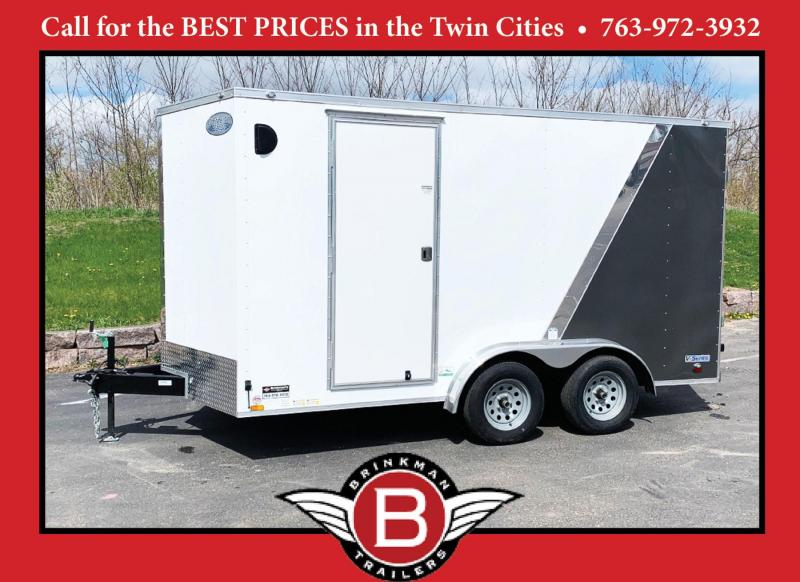 Continental 7.5x14 Enclosed Trailer - Rear Ramp!