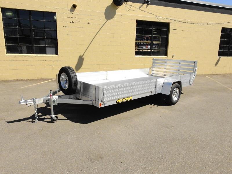 Aluma 8114 SR ATV  UTV Trailer Bi-fold Rear Ramp and Side Load Ramps!