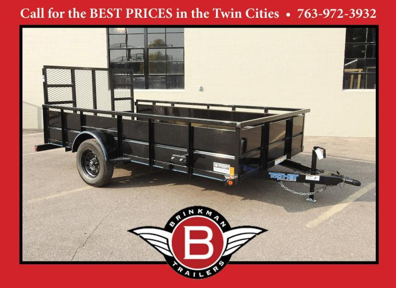 "Top Hat 83"" x 12' Solid Side Steel ATV/Utility Trailer - 3500# Axle!"