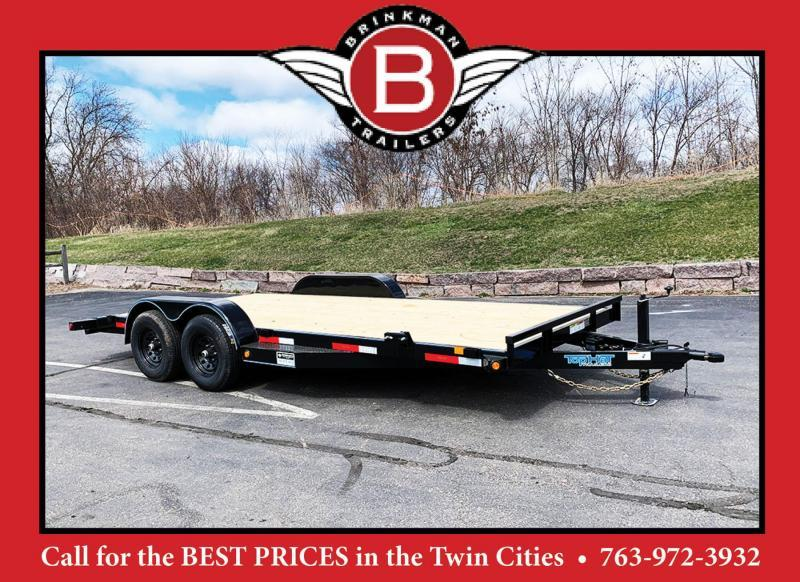 Top Quality Top Hat 83x18 Car/Equipment Hauler - Tuck Under Ramps - 9,990# GVWR!