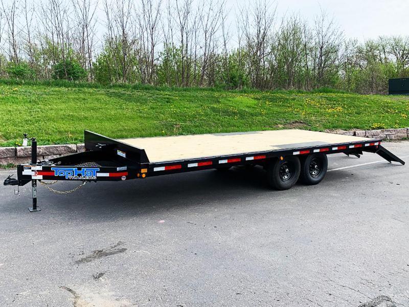 Heavy Duty Top Hat 101x20 Deck Over Car/Equipment Hauler - Tuck Under Ramps - 14,000# GVWR!