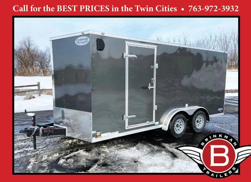 "Continental 7.5x16 Enclosed Trailer - 6'6"" Interior - Rear Ramp"