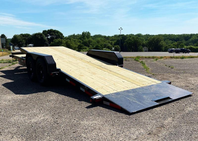 Heavy Duty Top Hat 83x24 Tilt Bed Trailer - 14,000# GVWR!