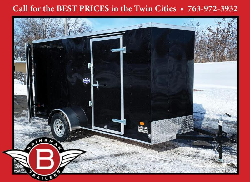"American 6x12 Cargo Enclosed Trailer- 6'6"" Int - DBL Doors - Quality!"