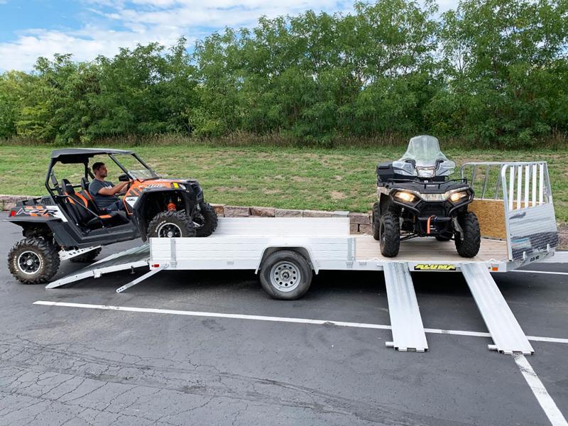 Aluma 8115WD-BT-SR Aluminum UTV/ATV/Snowmobile Trailer - All Purpose!