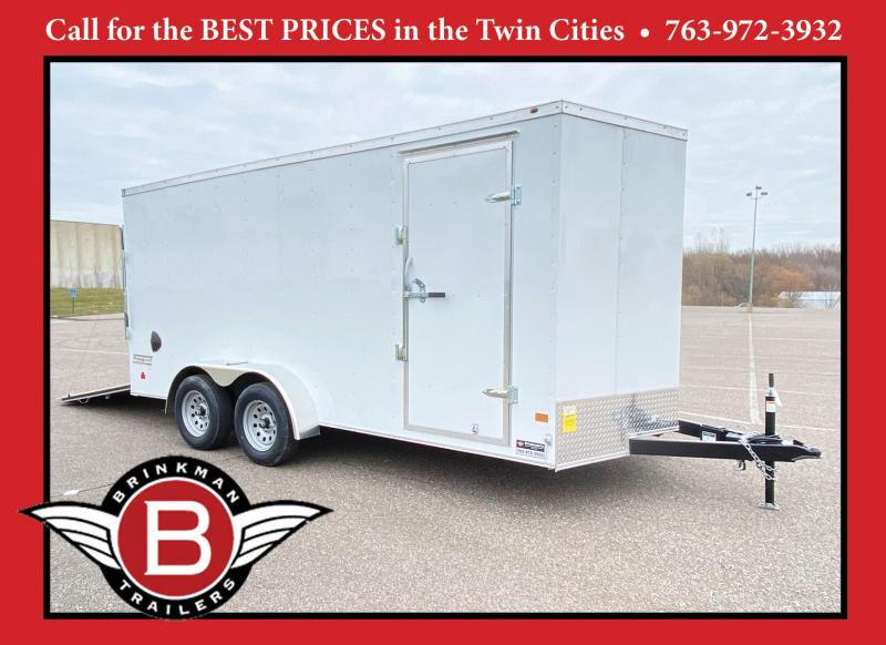 "Haulmark 7 x 14 Enclosed Trailer with 6'6"" Interior and Rear Ramp!"