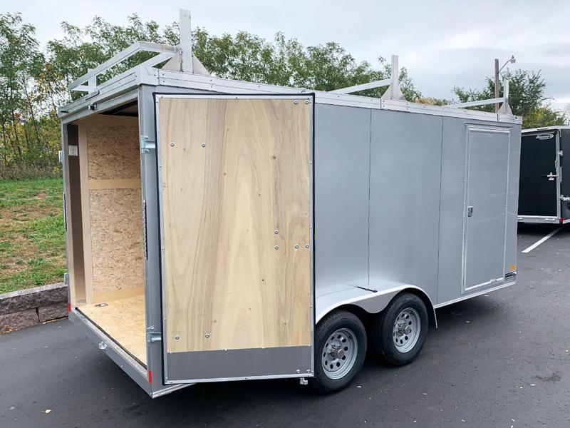 "Haulmark 7x16 Tandem Enclosed Contractor Trailer - 6'6"" Int. - Dbl Rear Doors!"