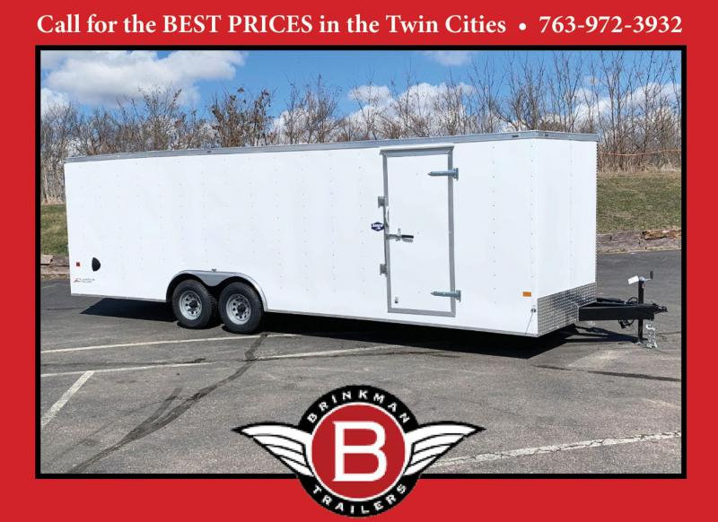 American Hauler 8.5x24 Enclosed Trailer - Rear Ramp!