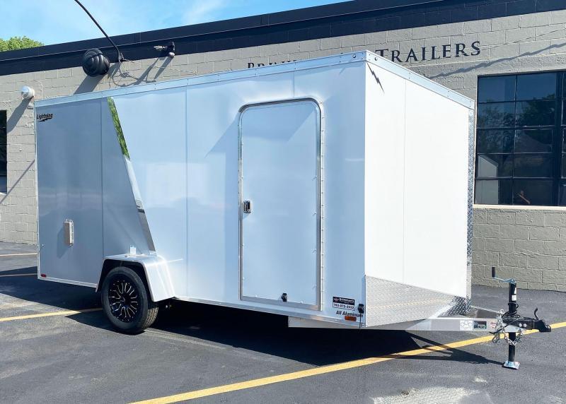"""Lightning 6x14 Aluminum Enclosed Trailer - 6'8"""" Int. - Rear Ramp!"""