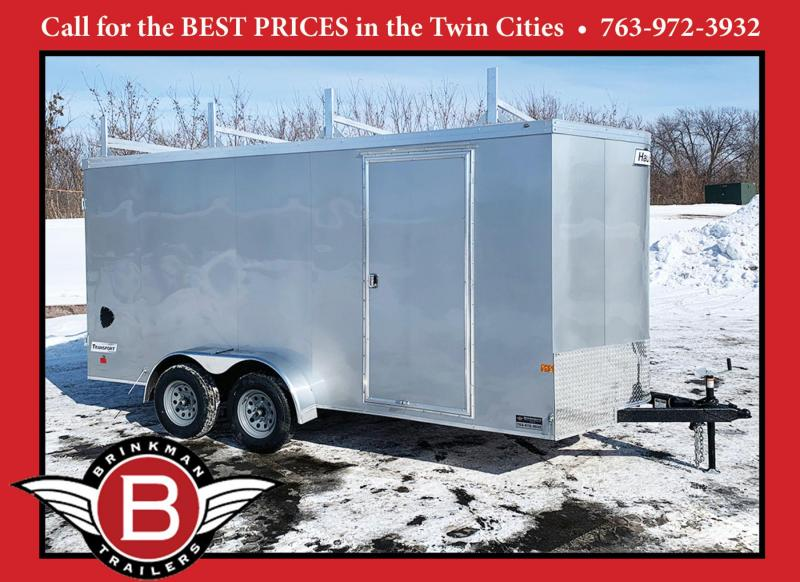 Premium Haulmark 7x16 Enclosed Contractor Trailer - 7' Int.-L-Racks!