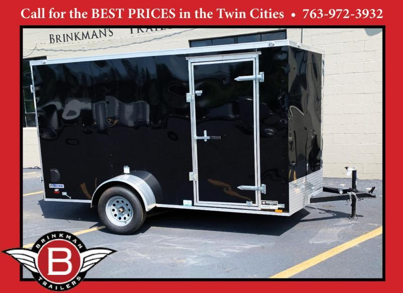 "Continental 6x12 Enclosed Trailer - 32"" Side Door - Dbl Rear Doors!"