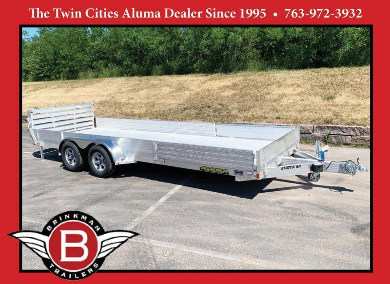 Aluma 8120TA SR Aluminum Trailer - Side Loading Ramps - 7,000# GVWR!