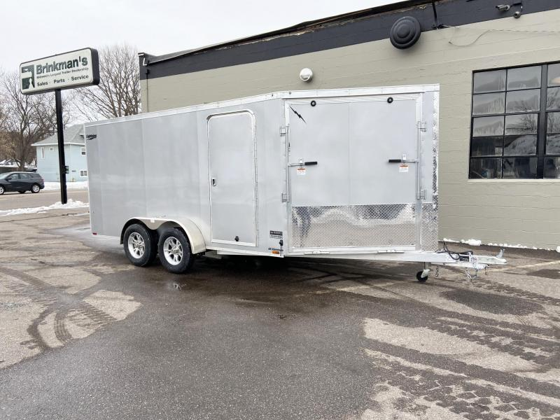 Lightning 7x19 Aluminum 2-Place Enclosed Snowmobile Trailer