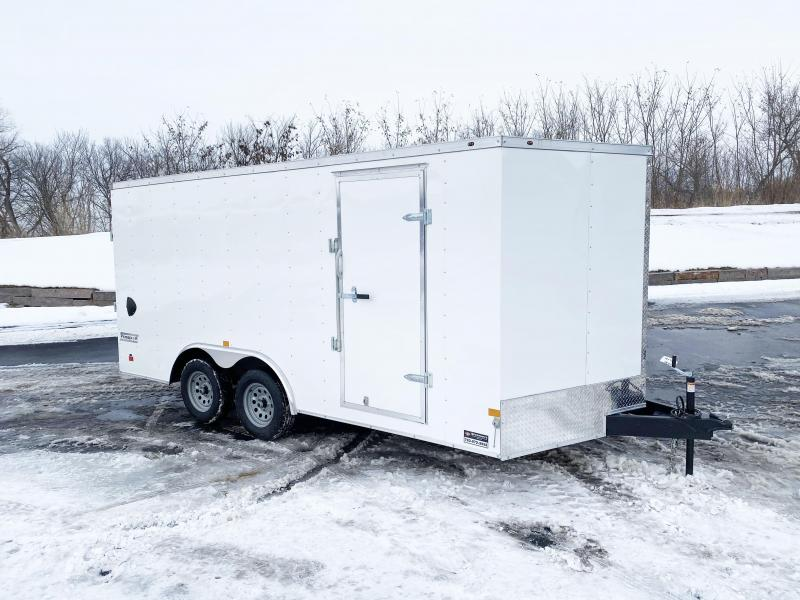Haulmark 8.5'x16' Enclosed V-Nose Trailer with Rear Ramp - QUALITY!