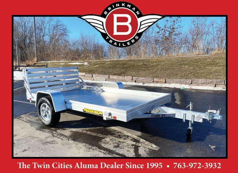 Aluma 7210H BT Aluminum Open Trailer - Bi-Fold Ramp!