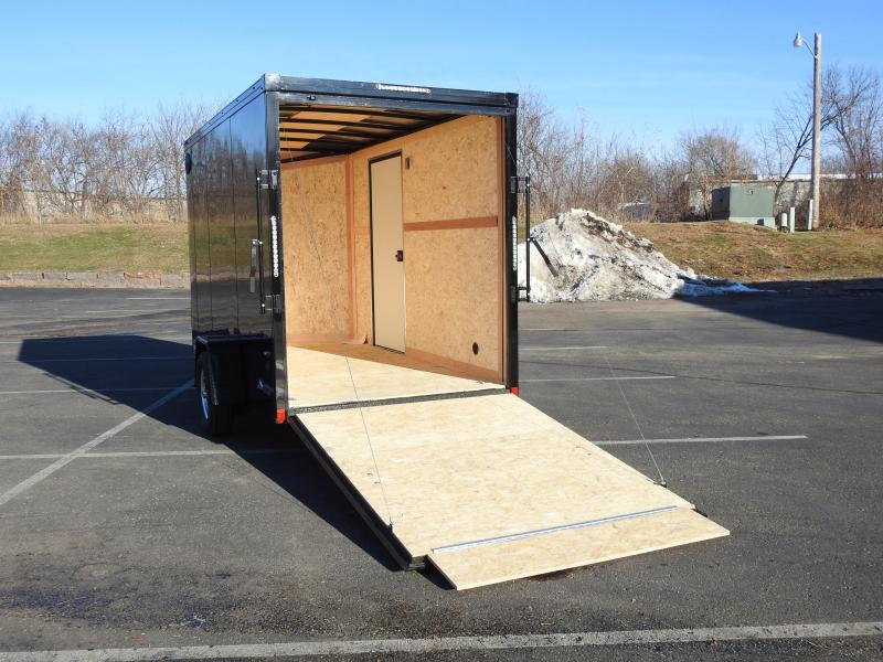 American 6x12 Enclosed Cargo Trailer - Black Out Package - 7' Interior