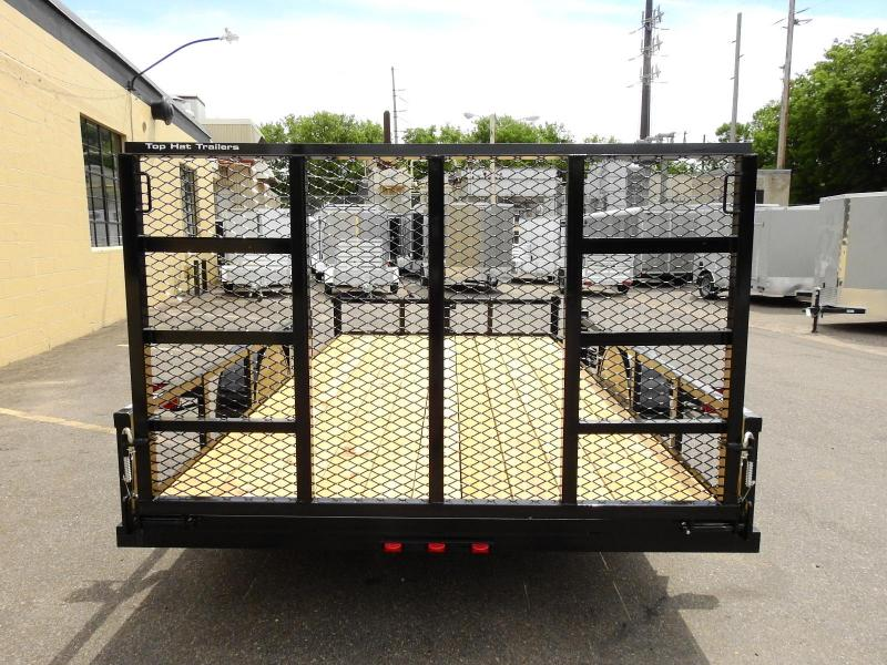 Top Hat 83 x 14 ATV / Quad Trailer w/ Side Load & Rear Ramp-Best Deal!