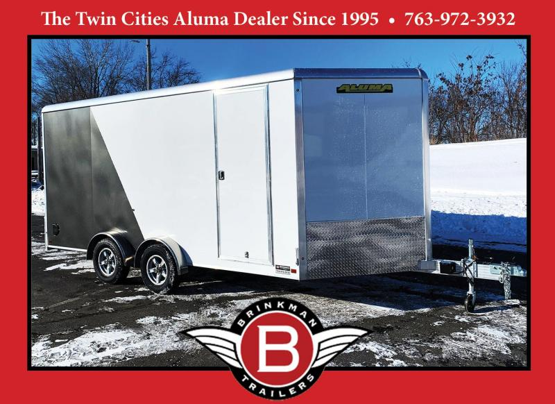 ALUMA 7.5X16 (16'+3.5'V) ENCLOSED ALUMINUM TRAILER- 7' INTERIOR - UTV