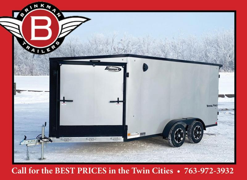 Formula 7x19 (14'+5'V) Aluminum Enclosed 2-Place Snowmobile Trailer
