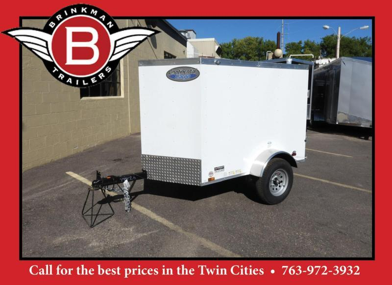 Continental Cargo 4x6 Enclosed Cargo Trailer -V-Nose Front!