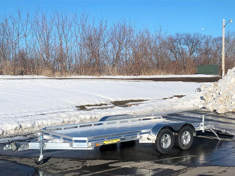 2022 Aluma 7816 TA Aluminum Tandem Axle Utility Trailer - 7,000# GVWR