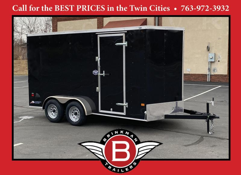 American Hauler 7x14 Enclosed Cargo Trailer - Rear Ramp- 7' Interior