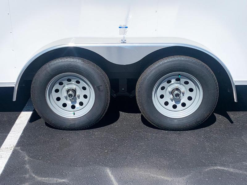 Continental 7x12 Tandem Axle Enclosed Trailer - Rear Ramp!