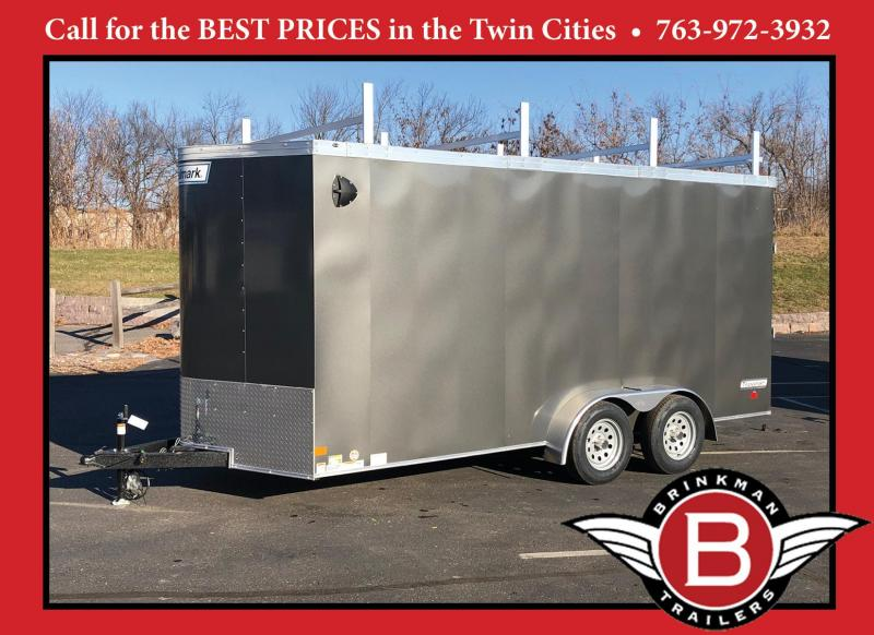 Premium Haulmark 7x16 Enclosed Contractor Trailer - 7' Int- Rear Ramp!